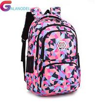 Plecaki szkolne dziewczyny torby dla dzieci wodoodporna lampa plecaki dla dzieci plecaki szkolne dla dzieci plecaki z nadrukiem mochila tanie tanio Oxford zipper School Backpack Geometryczne 33cm 24cm nylon 48cm 0 7kg School Bags mochila infantil backpack kids Mochila Teenager Backpack