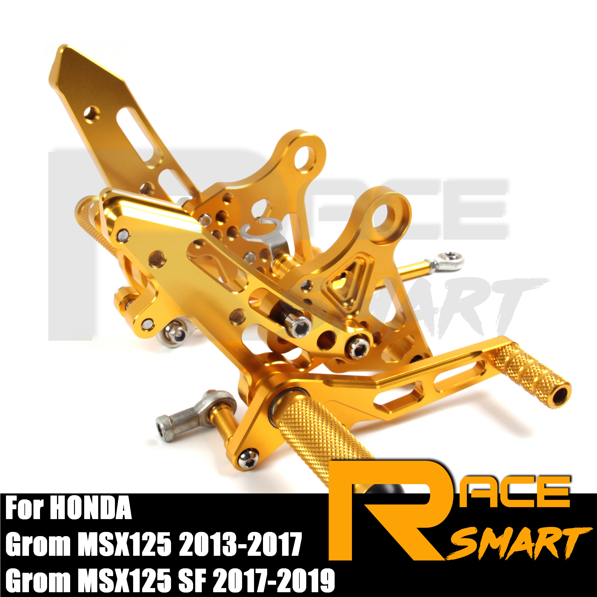 FOR HONDA <font><b>MSX125</b></font> 2013 2014 2015 2016 2017 Motorcycle CNC Adjustable <font><b>Rearset</b></font> Rear Footrests Foot Rest Pegs Pedal Accessories image