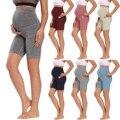 Летние Леггинсы для беременных женщин мини Йога Фитнес Спортивные штаны с высокой талией для беременных узкие модные леггинсы шорты для бе...
