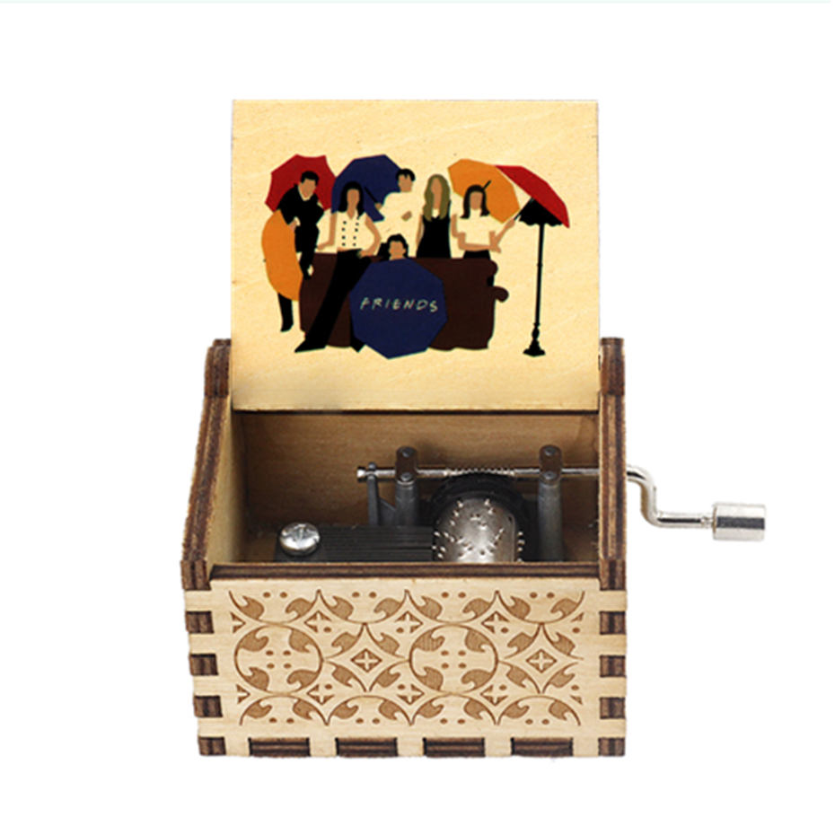 Anonymity  wooden Hand-Crafted Jack Sparrow from Pirates of the Caribbean plays melody Davy Jones Music Box 2
