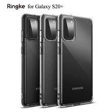 Ringke Fusion do Galaxy S20 Plus futerał silikonowy elastyczny Tpu i przezroczysty twardy komputer tylna pokrywa hybrydowa do Galaxy S20 +