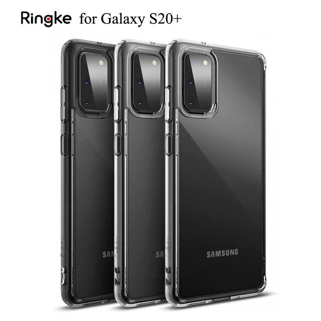 Ringke フュージョンギャラクシー S20 プラスシリコーンケース柔軟な tpu と透明ハード pc バックカバーハイブリッド銀河 S20 +