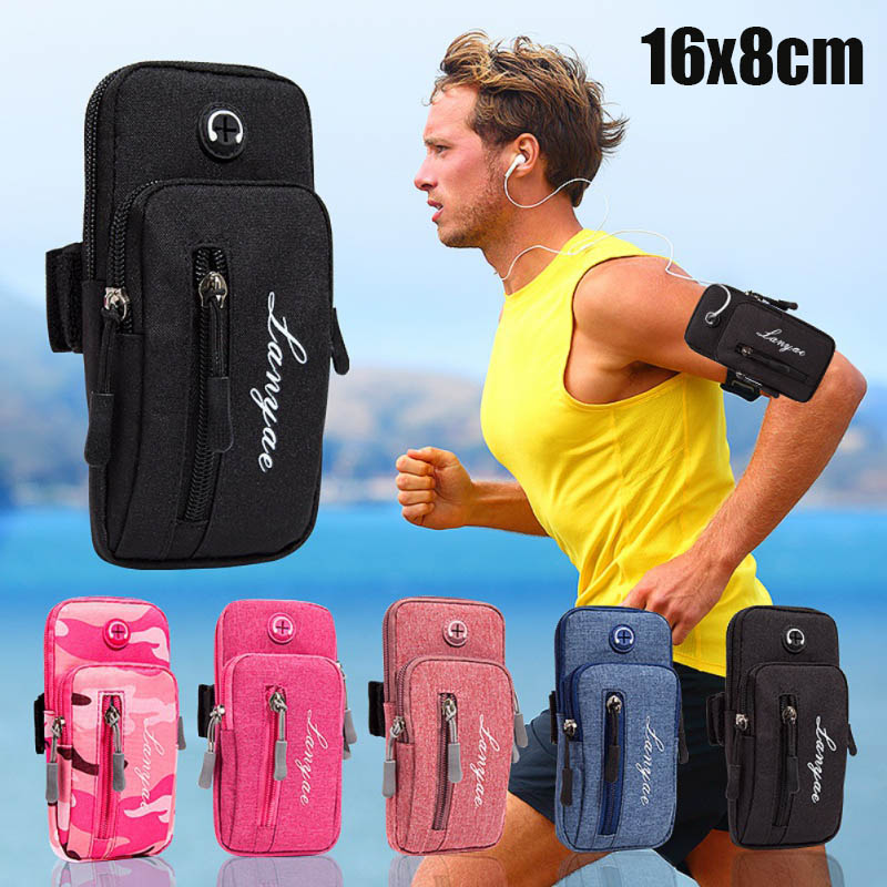 Running Men Women Arm Bags For Phone Money Keys Outdoor Sports Arm Package Bag With Headset Hole(bolsa)