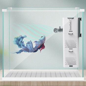 4 In 1 Multi-function Aquarium Filter Internal Sponge Filter for Fish Tank Submersible Water Pump Wave Maker Aerator 1