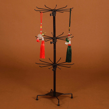 Display Stand 3 Tiers Counter Rack Metal Jewelry Earring Necklace Ring Show Holder Display Rack 70 x 30cm Jewelry Display Stand