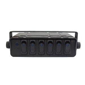 Image 5 - 80 Amp On/Off 20A Rocker Switch Box Emergency Strobe Light LED Backlit 12AWG Input Draad 12V SPST 6 Gang Toggle Controller Panel