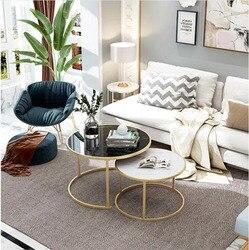 2 ב 1 עץ קפה שולחנות סלון ספה לצד עגול קפה תה שולחן שולחן שילוב בית ריהוט