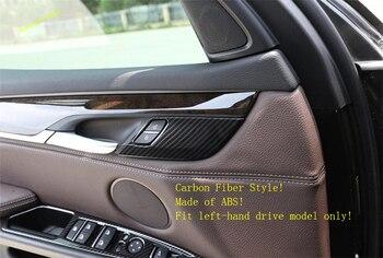 Carbon Fiber Safety Door Lock Cover Trim Sequins 4pcs for BMW X5 F15 X6 F16 2014-2018
