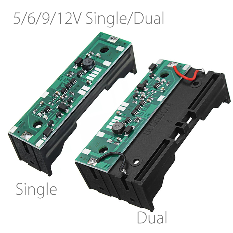 5V 6V 9V 12V Charging UPS Uninterrupted Protection Integrated Board 18650 Lithium Battery Boost Module single DUAL Battery Hold