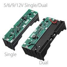 5V/6V/9V/12V şarj UPS kesintisiz koruma entegre kurulu 18650 lityum pil boost modülü tek çift pil tutun