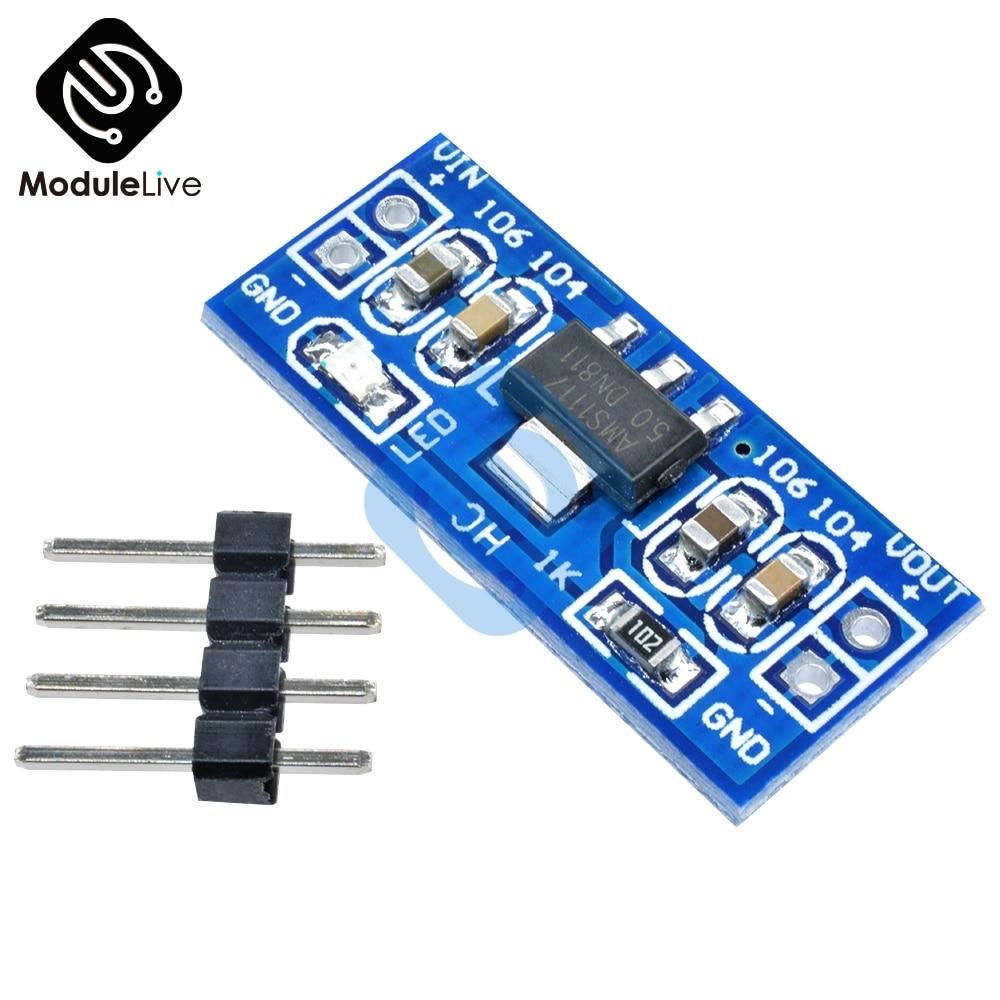Стандартный 6, 0 V-12 V постоянного тока до 5V AMS1117-5. 0V Питание модуль AMS1117-5. 0 для Arduino Raspberry Pi PCB плата