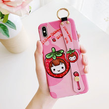 jamular Glossy couple IMD phone case For iPhone X XS XR Max 8 7 6 6S Plus cute cartoon boy girl back cover