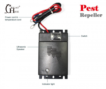 Greathouse Car Mounted Mice Repeller Rat Mouse Drive Ultrasonic Rodent Animal Repellent Electronics Vehicle Pest Control
