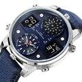 Роскошные мужские часы  светящийся спортивный хронограф  водонепроницаемые  аналоговые  24 часа  дата  кварцевые часы для мужчин  полностью С...