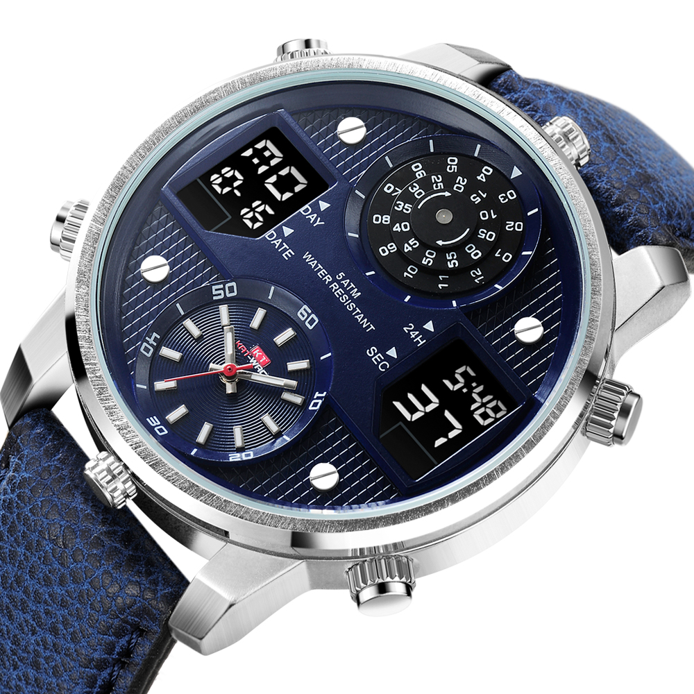 Luxury Mens Watches Luminous Sports Chronograph Waterproof Analog 24 Hour Date Quartz Watch Men Full Steel Wrist Watches Clock