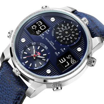 Luxury Mens Watches Luminous Sports Chronograph Waterproof Analog 24 Hour Date Quartz Watch Men Full Steel Wrist Watches Clock luxury leather gift box pacific angel shark sport watch 24hrs chronograph luminous steel water resistant men watches sh315 319