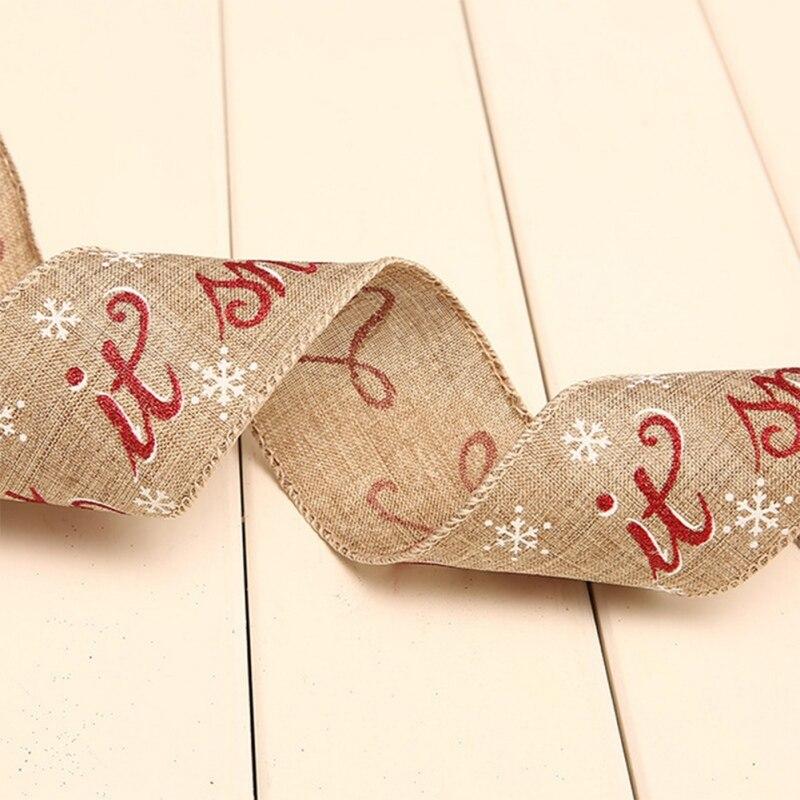 200 см льняная Рождественская Подарочная коробка поставки вечерние лента для украшения ленты с бантом Рождественская елка домашний декор - 5