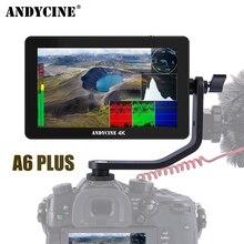 Andycine A6 Plus Monitor zewnętrzny 4K HDMI ekran dotykowy 5.5 IPS FHD przebieg Vectorscope 3D LUT typ C lusterko samochodowe aparat DSLR
