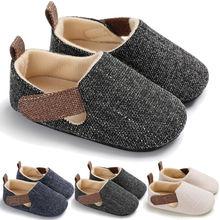 Nowy Casual jesień zima niemowlę maluch Baby Boy cieplej szopka buty miękka podeszwa Sneaker bawełniane buty dla dzieci tanie tanio Patchwork Pasuje prawda na wymiar weź swój normalny rozmiar Cotton Fabric Wiosna jesień Hook loop