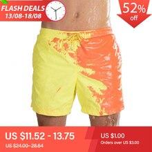 2020 New Amazing Color Changing Swim Trunks Swimwear Swimsuit Slip Men Swimming Shorts for Mens Beach Swim Male Briefs Sexy Gay