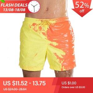 Image 1 - 2020 חדש מדהים צבע שינוי בגד ים בגדי ים בגד ים להחליק גברים מכנסיים שחייה גברים של החוף לשחות זכר תחתונים סקסי הומו