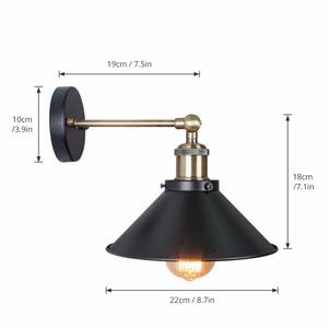 Image 2 - בציר מנורת קיר, תעשייתי רטרו קיר אור, חדר שינה סלון קיר פמוטים, עבור מסעדת מסדרון חנות קישוט תאורה