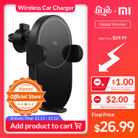 Xiaomi Mi 20W MAX Wireless Car Charger with Intelligent Infrared Sensor Fast Charging Car Phone Holder