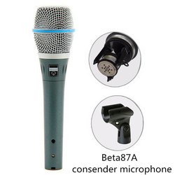 Finlemho Studio Recording Microphone Phantom Power Professional Condenser Capsule Beta87A For Home Karaoke Conference
