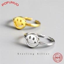 Женское серебряное кольцо pofunuo 925 пробы с улыбающимся лицом