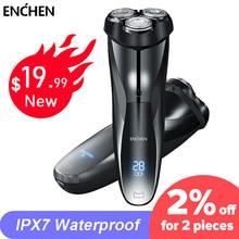 ENCHEN – rasoir électrique 3D Blackstone pour hommes, étanche IPX7, double usage humide et sec, avec écran LCD, pour le visage et la barbe