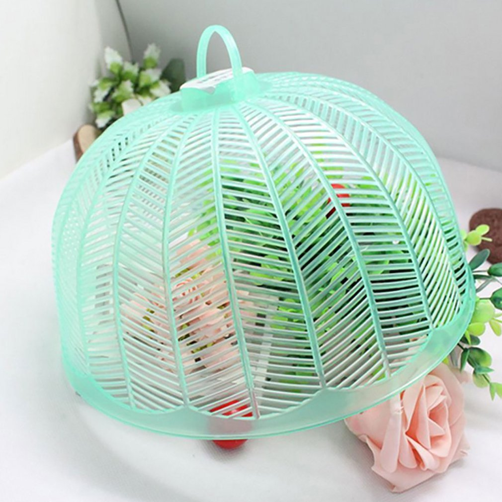 3 x Protective Food Cake BBQ Covers Insect Folding Mesh Umbrella Cover 30x30cm