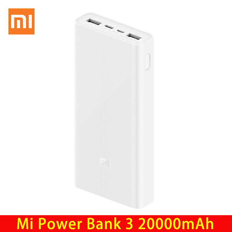 Xiaomi power bank 20000 mah 3 plm18zm 18 w 2-way usb c mi powerbank 20000 bateria externa powerbank image