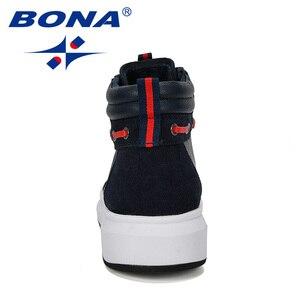 Image 2 - بونا 2019 الكلاسيكية الجديدة نمط الدانتيل متابعة أحذية غير رسمية الذكور مكتنزة أحذية الرجال عالية أعلى مريحة فلكنيز أحذية رجل العصرية