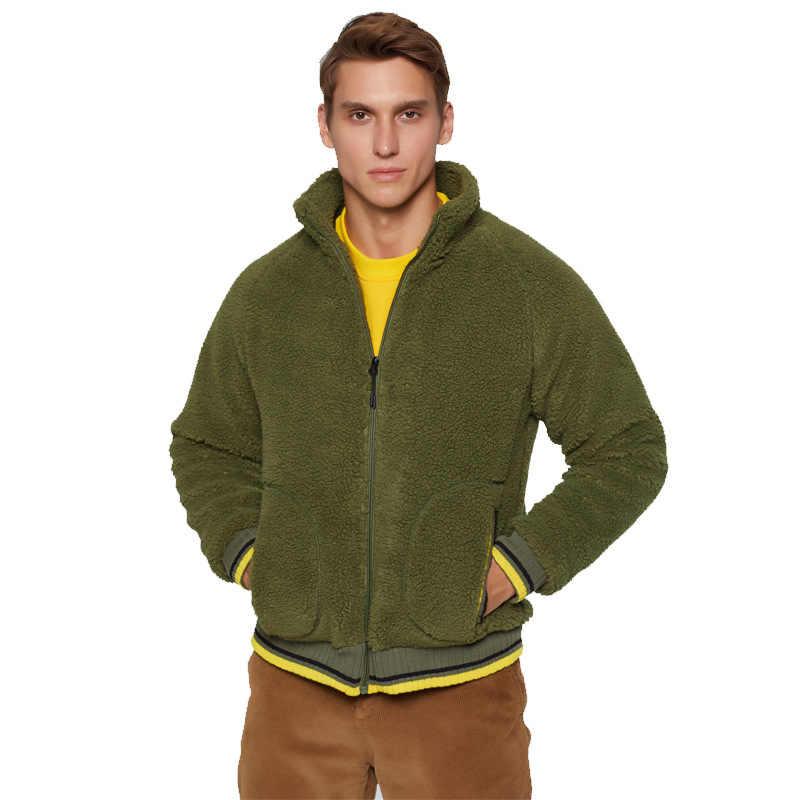 Mrmt 2019 브랜드 가을, 겨울 남성 자 켓 느슨한 카디 건 램 오버 코트 남성 캐시미어 스웨터 따뜻한 자 켓 의류