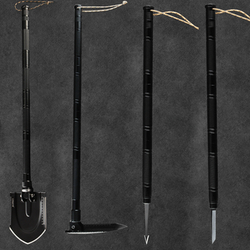 97cm Multi-function Engineering Shovel Outdoor Garden Fishing Tools Wilderness Survival Equipment Snow Shovel with a Free bag 4
