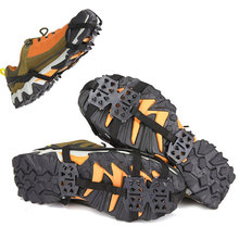 Boot Shoes-Cover Ice Anti-Slip 24-Teeth 1-Pair Gripper Crampons Climbing-Chain Hiking