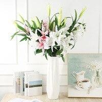 Künstliche seide blumen lilie gefälschte zweig 78cm lange DIY kreative bouquet als geschenk für freunde lehren & frische wohnzimmer room decor