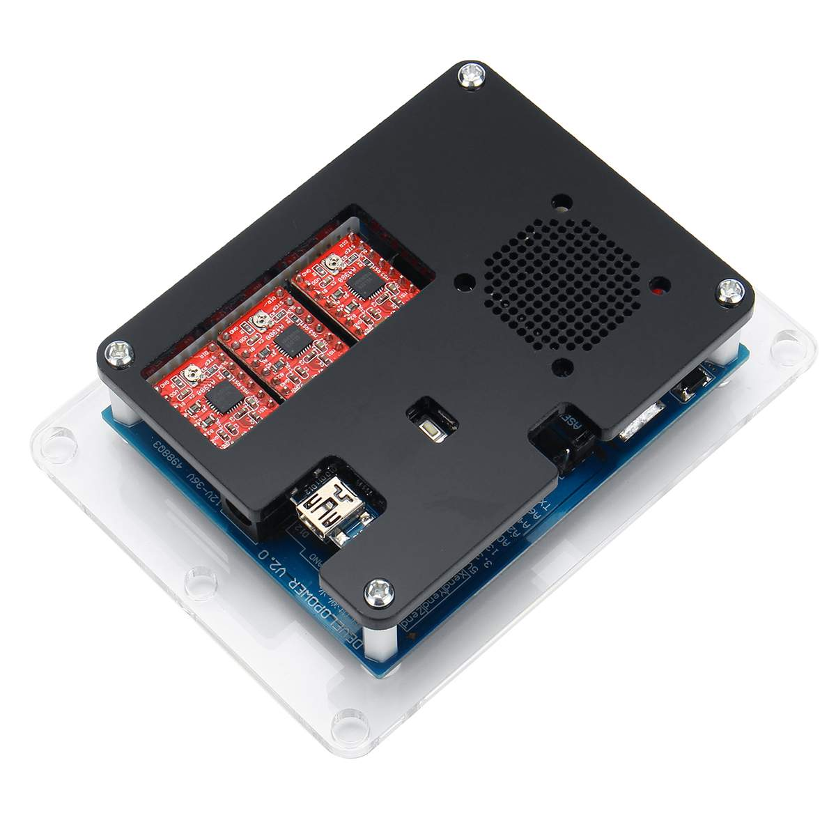 WOLIKE USB ЧПУ контроллер 2 оси гравировальный станок плата управления карты интегрированный драйвер поворотный центр с офлайн GRBL