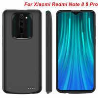 Pour Xiaomi Redmi Note 8 Note 8 Pro boîtier de batterie 6500 Mah chargeur couverture de téléphone intelligent batterie externe pour Redmi Note 8 Pro boîtiers d'alimentation
