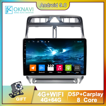 For Peugeot 307 2002-2013 9 Inch Android 9.0 2 Din Smart Car Radio GPS Navigation Multimedia Autoradio Stereo Video Player DSP image