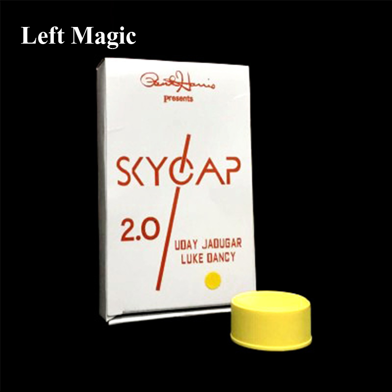 Skycap 2.0 - ( 4 Colors ) Magic Tricks Bottle Cap PENETRATION Magia Magician Close Up Illusions Gimmick Props Funny Mentalism