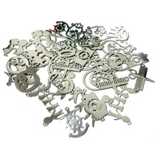 50 Pcs/lot Stainless Steel Heart Crown Camera Plant Anchor Pendants for DIY Bracelet Necklace Jewelry Making Findings Wholesale(China)