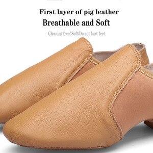 Image 3 - Dans Sneakers Latin dans ayakkabıları Femme yumuşak taban bale ayakkabıları elastik bant bayanlar caz balo salonu dans ayakkabı kız EU 34 44