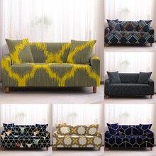 Funda de sofá con patrón geométrico vintage nórdico fundas de sofá elásticas fundas de sofá con toalla de esquina fundas de sofá para sala de estar