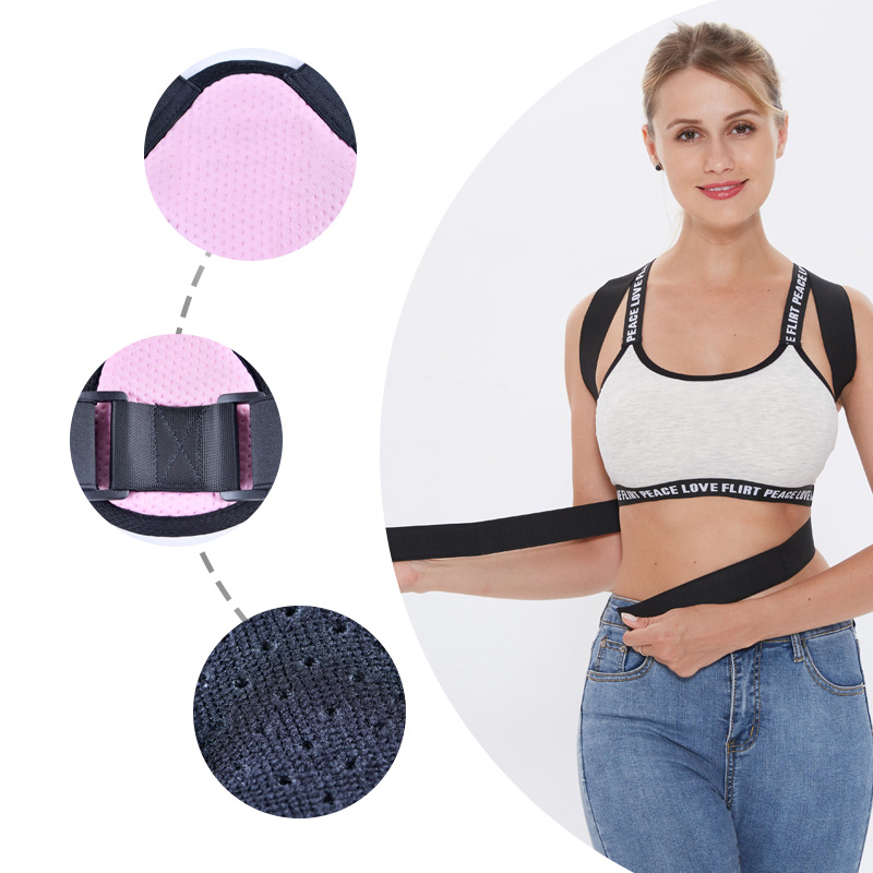 Back Posture Corrector Women Men Prevent Slouching Relieve Pain Posture Straps, Clavicle Support Brace 4