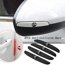 4 pçs porta barra anti-colisão pára-choques tira emblema protetor adesivo para mini cooper countryman clubman r55 r56 r60 f54 f55 f56 f6