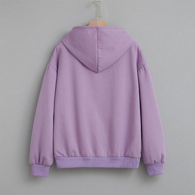 Cotton Sweatshirt Women Oversized Hoodie Female Harajuku Allergic To Stupid People Letter Print Sweatshirts Kpop Plus Size Tops 5