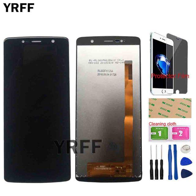 شاشة هاتف LCD ل Leagoo الطاقة 5 شاشة إل سي دي باللمس شاشة الاستشعار الجبهة زجاج اكسسوارات أدوات غشاء واقي