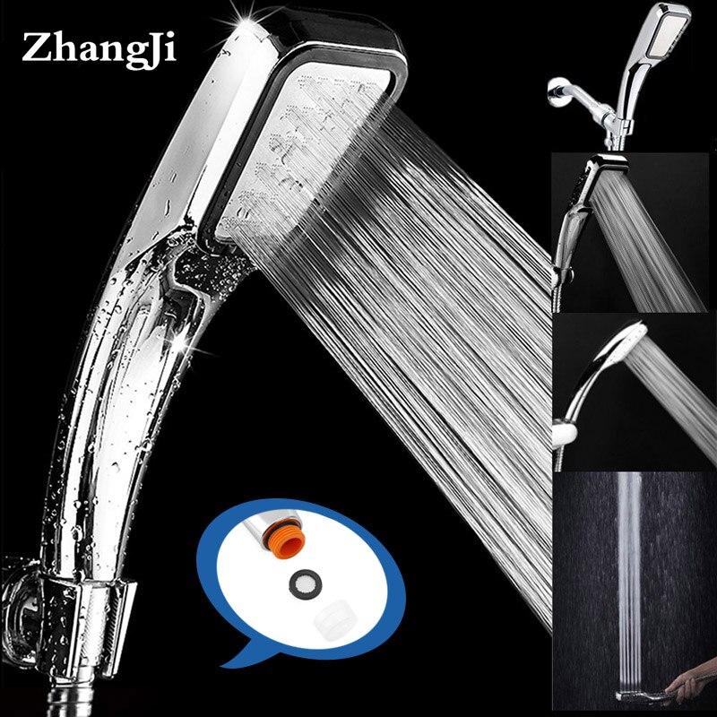 Qualidade superior Versão Atualizada ZhangJi 300 Buracos por 7 camada de cromo Chuveiro Cabeça de chuveiro de economia de água de alta pressão 135g