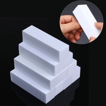 White Nail Art Buffers Sanding Grinding Polishing Block File Manicure Nail Art Tool